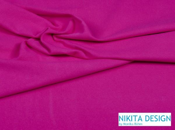 glattes Bündchen / Feinbündchen uni pink (48)