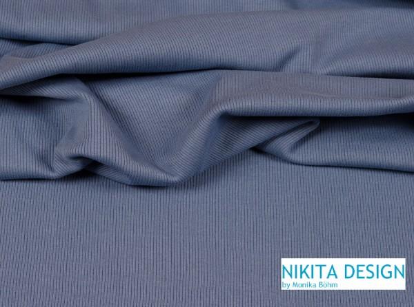 Bündchen uni jeansblau (81)