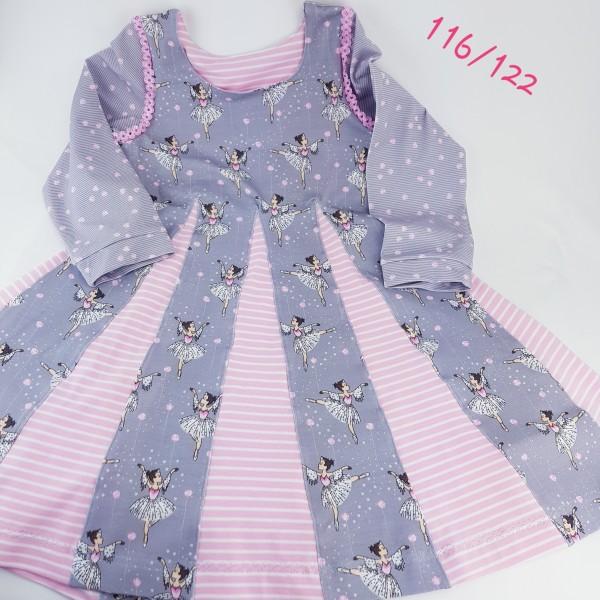 """festliches Kleid / Drehkleid """" Ballerina """" Gr. 116-122 aus Bio-Jersey"""