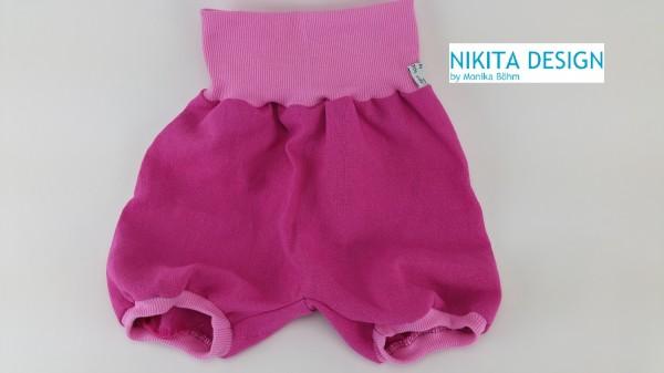 kurze Pumphose aus Leinen in pink-rosa