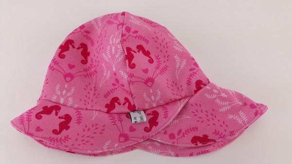 Sommerhut Sonnenhut Jersey Seepferdchen rosa pink