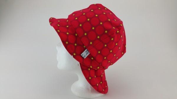 Sommerhut Sonnenhut Jersey rote Dots