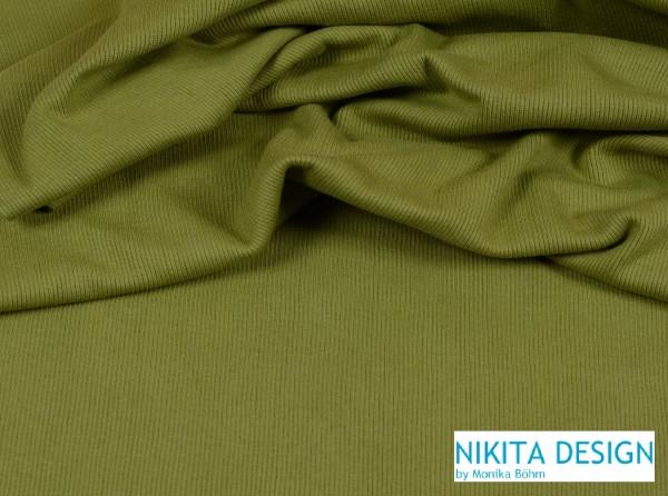 Bündchen uni oliv grün (122)