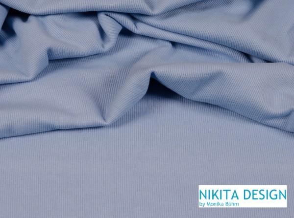 Bündchen uni hellblau (80)